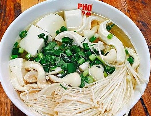 Mushroom and tofu pho from Pho Nom, Melbourne. Photo: Isabelle Lane.
