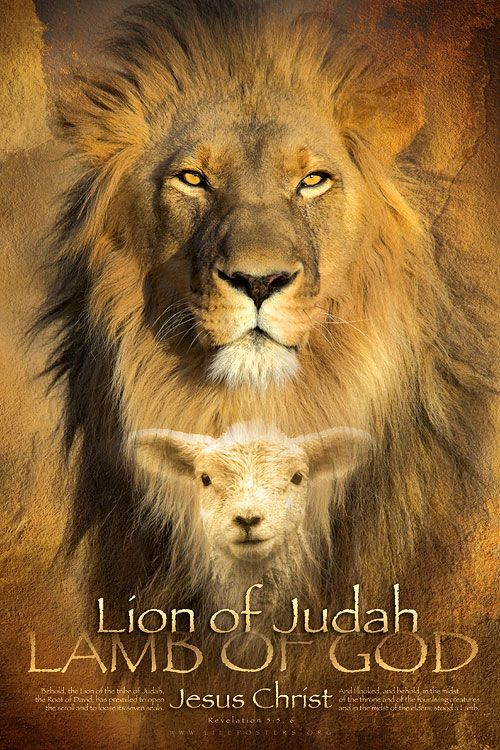 LION OF JUDAH - Christian Art Poster with Bible Verse