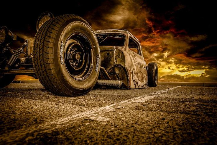 a gnarly rat rod built with a Ford F100 F-100 cab of the 1953 1954 1955 style