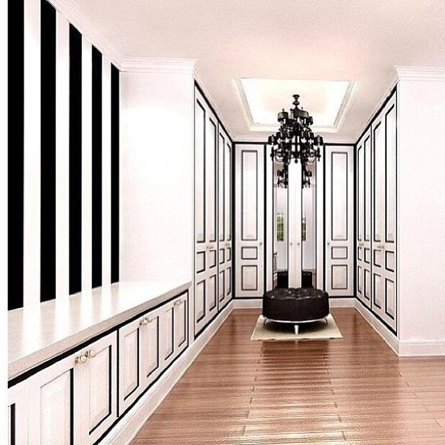:: b // w ::: Closet Spaces, Dreams Closet, Bedrooms Design, Black And White, Black White, Art And Design, Dresses Rooms, White Closet, Bedrooms Ideas