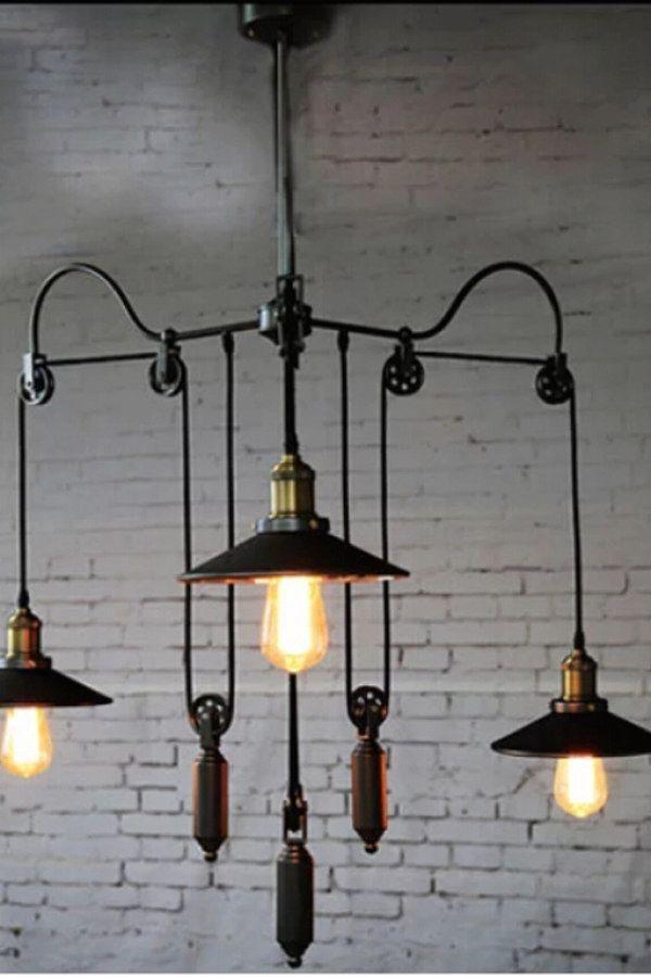 Creative Industrial Lighting Fixture Ideas To Complement Your Industrial Home Indu Industrial Light Fixtures Vintage Industrial Lighting Industrial Lighting
