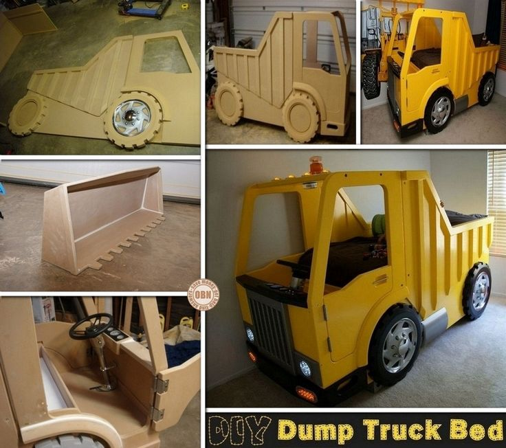 Dump Truck Toddler Bed : Best images about kids bed on pinterest boy girl