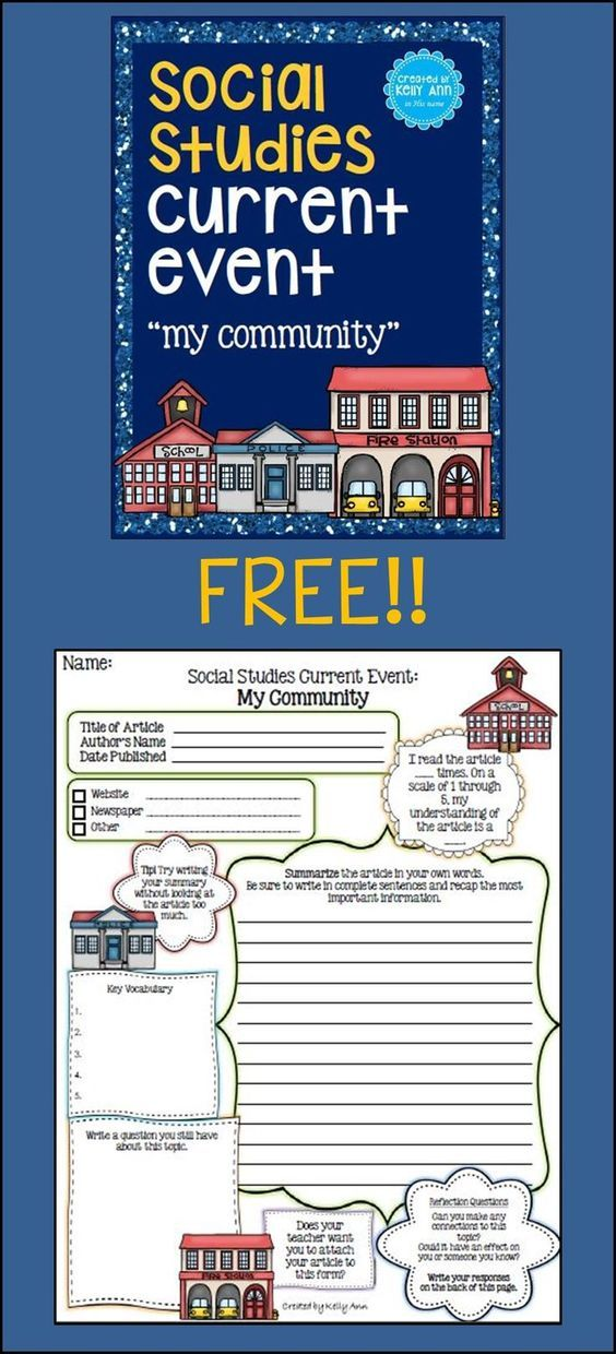 FREE Printable Social Studies Current Event Worksheet | Homeschool Giveaways