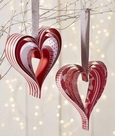 DIY Noël : coeurs en papier - jardinerie Truffaut conseils Papier Truffaut                                                                                                                                                                                 Plus