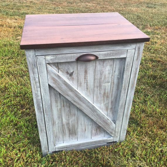 Barn Door Trash Container