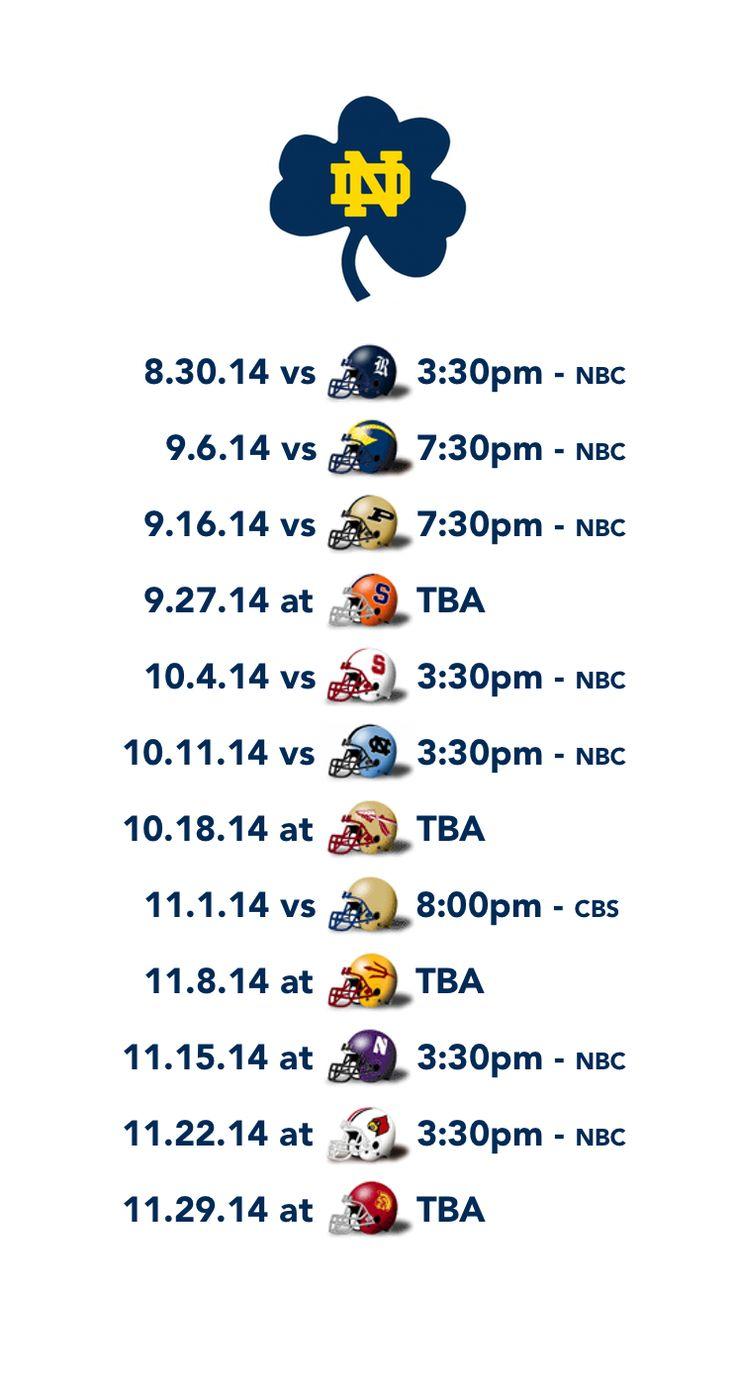 2014 Notre Dame football schedule - Blue Shamrock