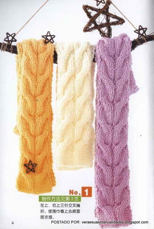 Olá amigas(os)!!   Hoje vou postar algumas idéias de cachecóis   em trico.   bjos   Veraxangai         GRÁFICO AQUI        GRÁFICO AQUI    ...