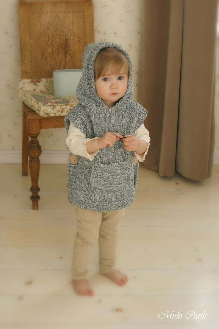 KNITTING PATTERN chunky hooded poncho Phoebe (toddler, child, adult woman sizes) by MukiCrafts on Etsy https://www.etsy.com/listing/233931193/knitting-pattern-chunky-hooded-poncho