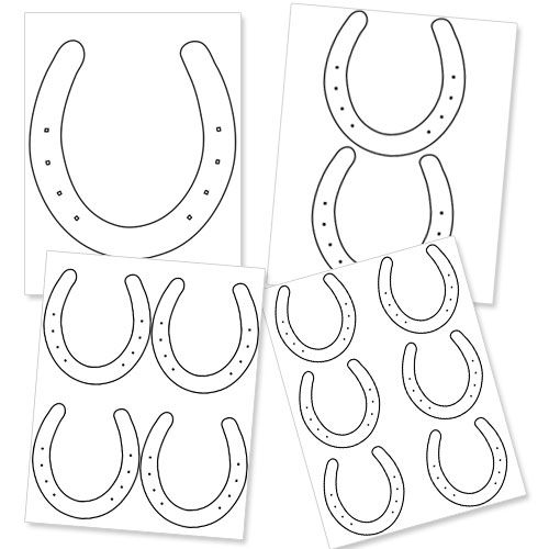 Horseshoe Template for Kids to Decorate