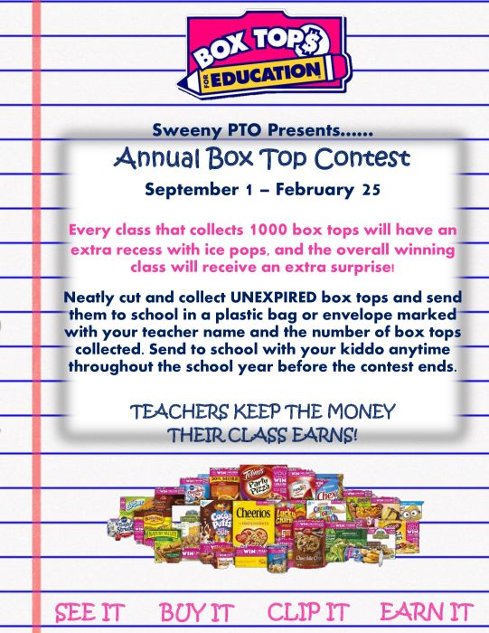 Box Top Contest : Other - school - Sweeny Elementary