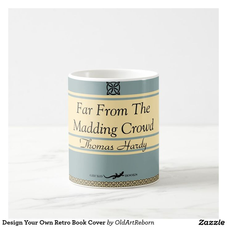 Design Your Own Retro Book Cover Coffee Mug