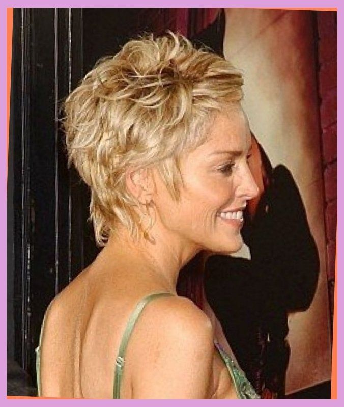 sharon stone hair style from the back