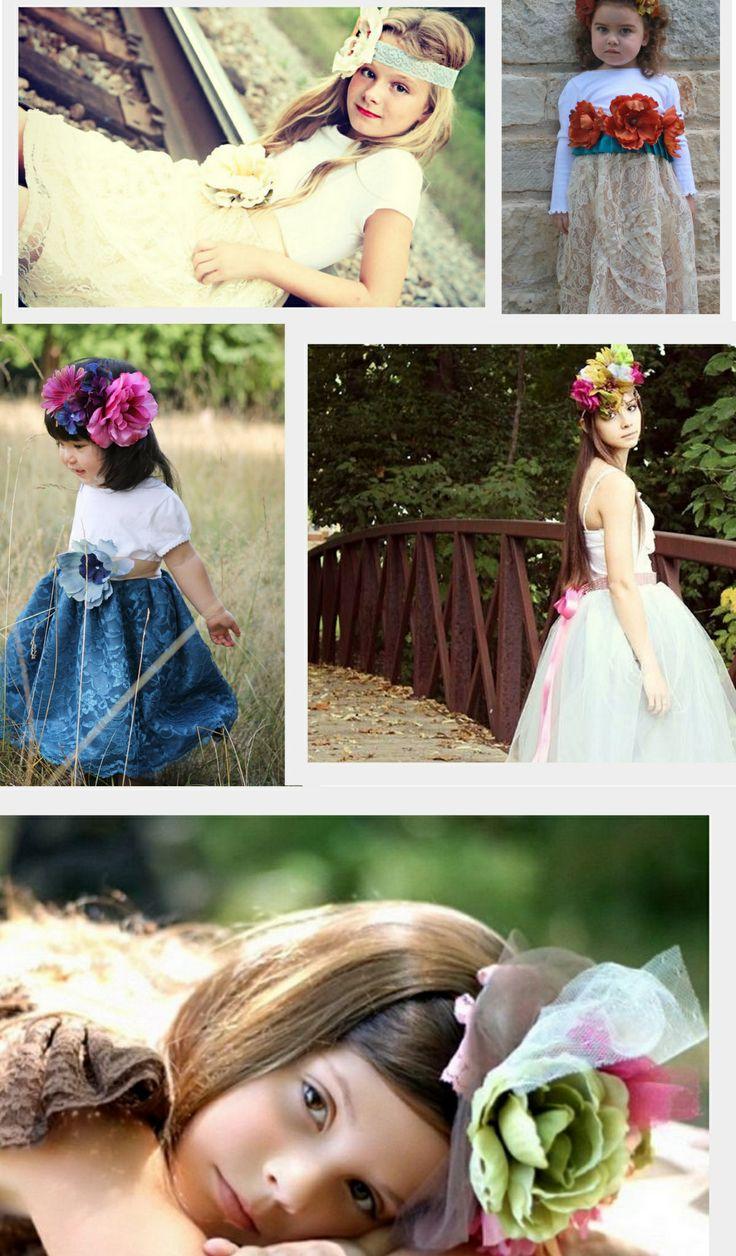 Junior bridesmaid hair accessories -  Flower Girl Girls Tutu Dresses Whimsical Wedding Tweens