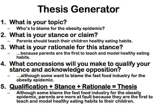 Examples of a thesis compare and contrast essay point