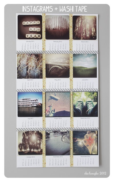 Photography | DIY Projects | Recipes | she-laughs: The Daily DIY: Instagram + Washi Tape Calendar