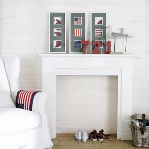 Manteau de cheminée décoratif blanc - ambiance 2