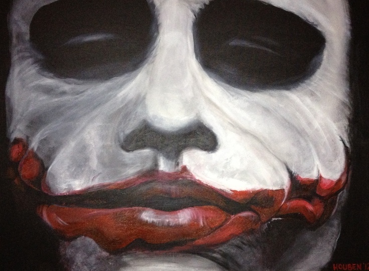"""Why So Serious"" 20 x 30 prints for sale $600 acrylic on canvas. artwork by Ellen Houben"