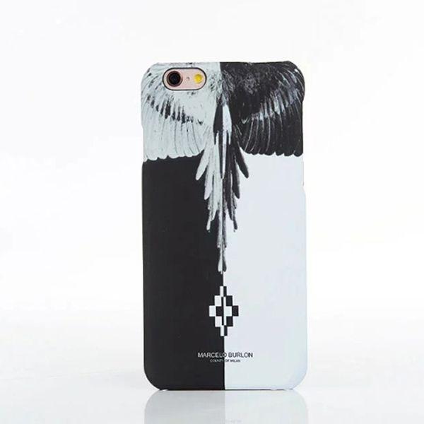 マルセロ Marcelo burlon風 白黒 クール ファッション 個性 オリジナル デザイン トーテム 落書き iPhone7ケース