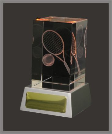 3D Tennis Crystal & LED Lights 110mm high