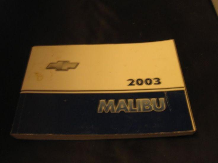 2003 Chevrolet Malibu owner manual