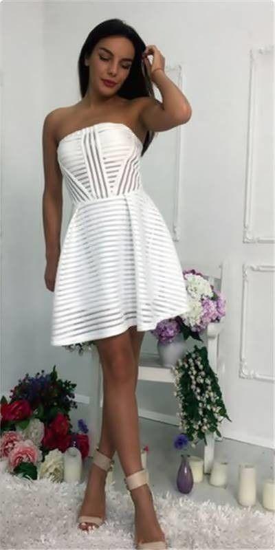 Vestido Branco Tomara que Caia - Compre Online