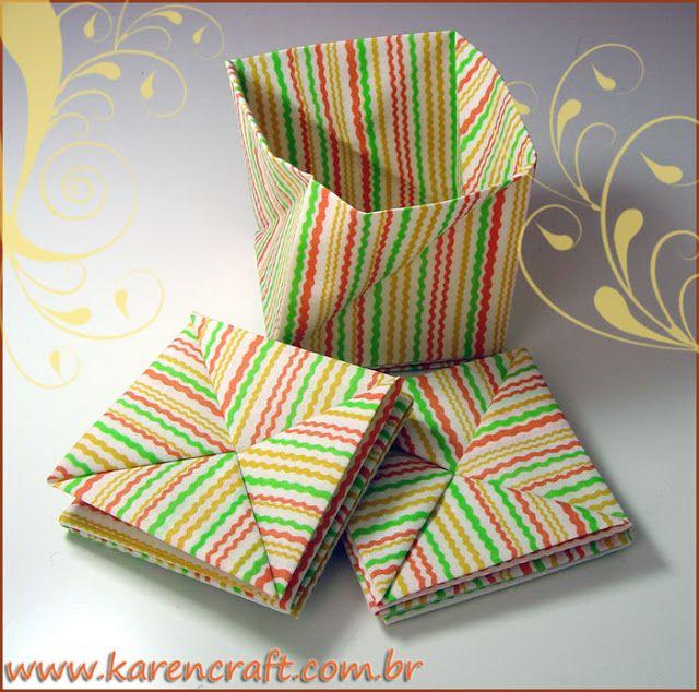 origami em tecido   Karencraft