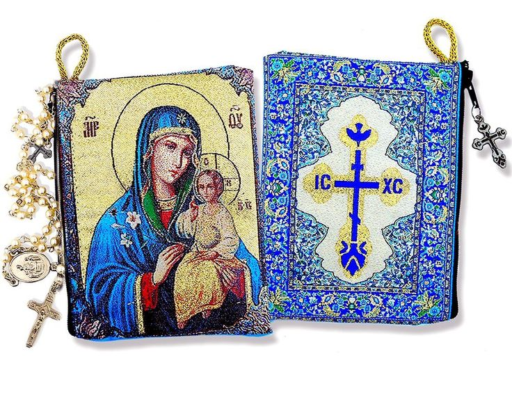 Religious Gift Blessed Virgin Mary Madonna and Child Icon Cloth Tapestry Rosary Zipper Close Pouch 5 3/8 Inch >>> Be sure to check out this awesome product. (This is an affiliate link and I receive a commission for the sales)