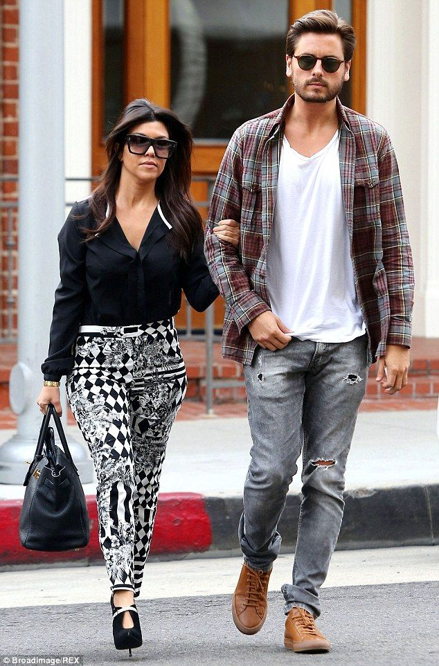 Scott Disick and Kourtney Kardashian. via dailymail.co.uk