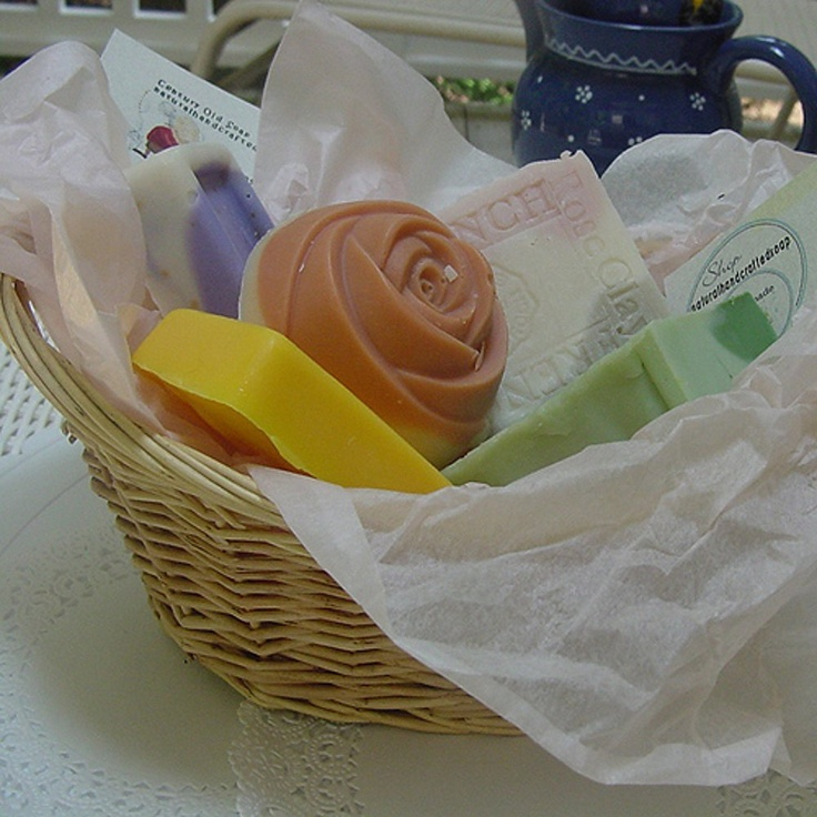 Amazon.com: Five Piece All Natural Handmade Soap Gift Basket: Beauty
