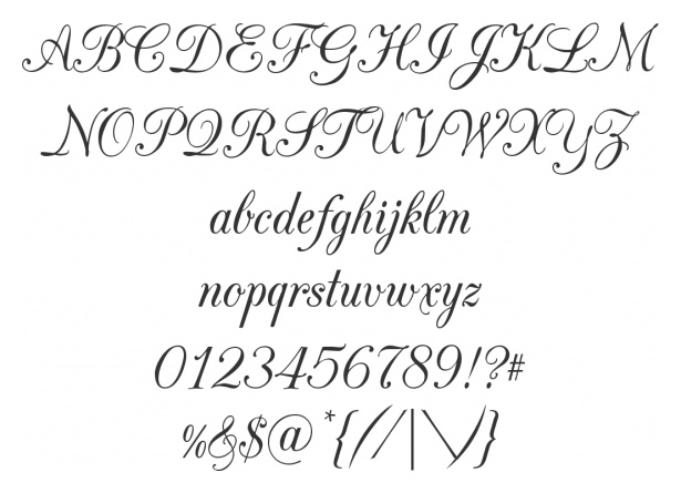 CAC champagne - a pretty font from FontSquirrel
