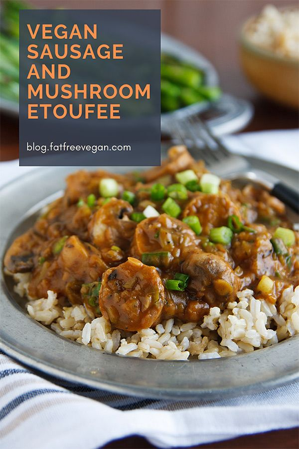 Vegan Sausage And Mushroom Etoufee