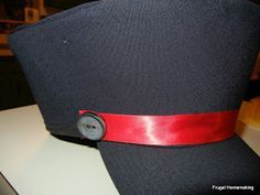 Frugal Homemaking: Railroad Conductor's Hat Tutorial