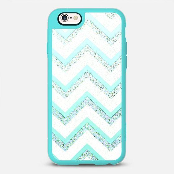MINT CHEVRON by Monika Strigel iPhone 6s - New Standard Case  #iphone6 #iphonecase #phonecase #phonecover #cover #case #monikastrigel #monikastrigelcases #casetify #transparent #samsung #samsungcases #htc #nokia #redme #ipad #ipadcase #girls #girly #ziczac #green #blue #white #mint #chevron