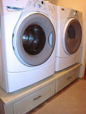 DIY washer/dryer pedestal