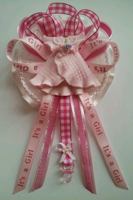 Baby Shower Corsage Little Dress in Pink | eBay