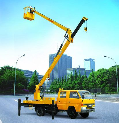 Aerial Work Machinery: XZJ5050JGK  Max operating height: 14.6m Max operating radius: 6.1m  For these and similar products such as Aerial platform vehicle with folding boom and Aerial platform vehicle with telescopic boom visit: www.integramotors.co.za/