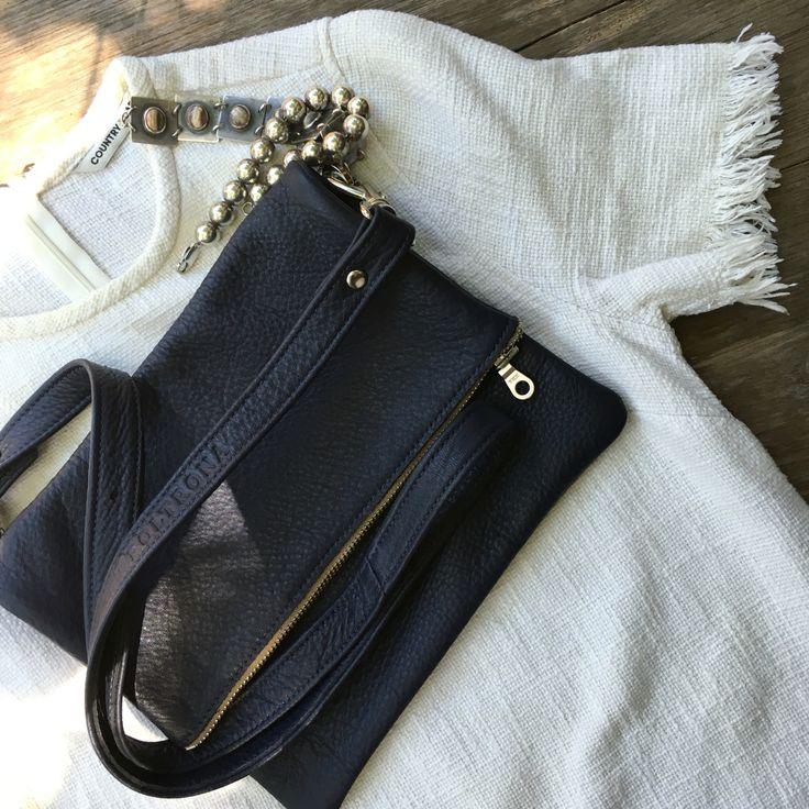LOU Black Italian Leather