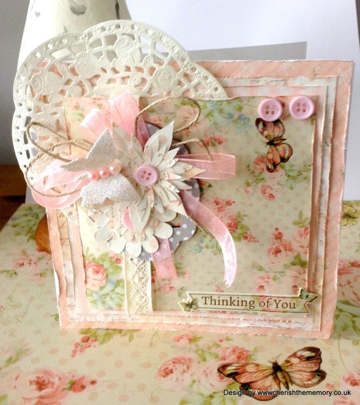 Dovecraft Floral Muse - Thinking of you card by design team member Karen
