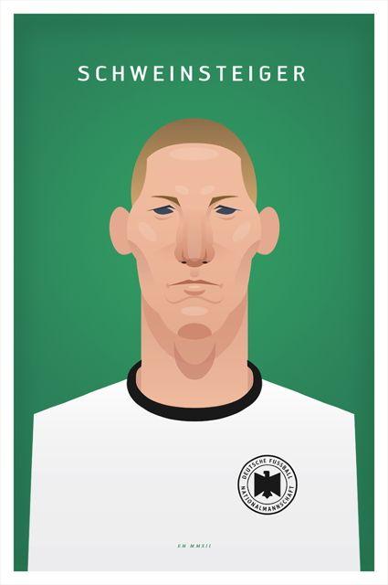 The German national football team. Illustrations by Daniel Nyari.