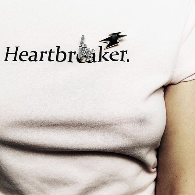 #heartbreaker  #molehill pins available at molehillgoods.com  FREE SHIPPING WORLDWIDE  #molehillgoods #discoverbetter #outfitoftheday #teen #rebel #wild #feminjne #style #pins #pingame #polishgirl #polishmodel #streetstyle #streetfashion #przypinki #normcore #slow #slowlife #little #wonders #woman #ss2016 #love