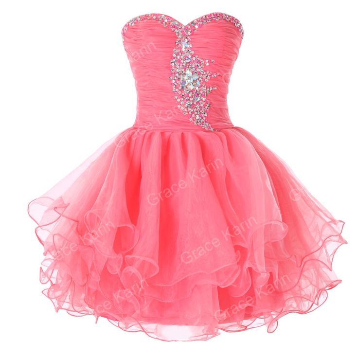 Strapless Short Prom Dress Cocktail Evening Party Homecoming Ball Gown Dresses #Unbranded #BallGown #Cocktail