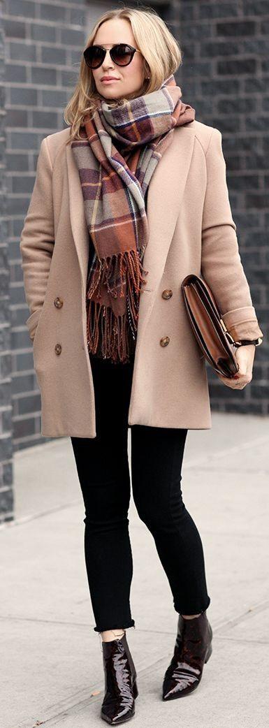 Coat: Theory | Scarf: Topshop | Boots: Mason Margiela | Denim: Citizens of Humanity | Sunglasses: Prada | Lipstick: Bobbi Brown Pink Nude + Pink Cloud | Cuff: Hermes | Clutch: Celine Box Bag | Brooklyn Blonde #coat