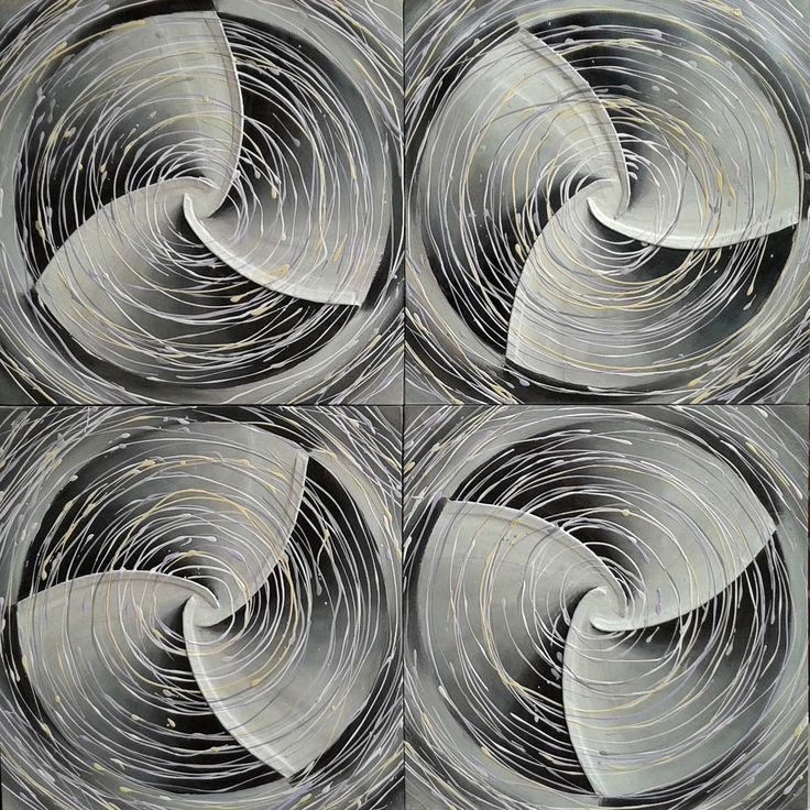 Domenico Levato My wind farm. 160x160 Tecnica mista su tela