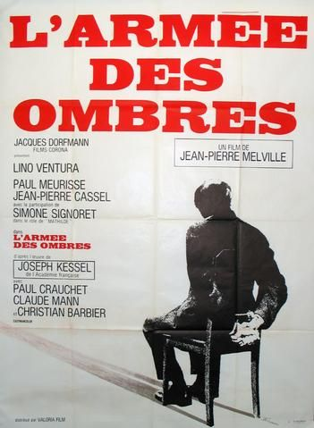 Vintage film poster for the movie Army of Shadows (L'Armee des Ombres), 1969