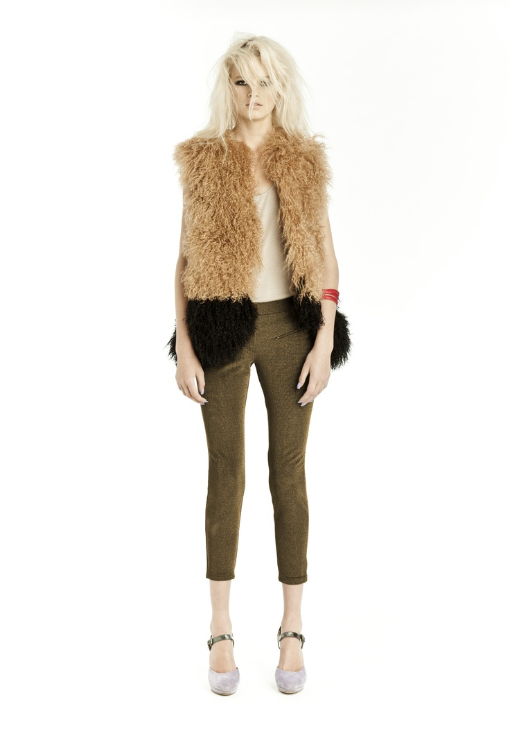 FOLK LANDS FUR VEST  Available to purchase on the website now!  www.jadeemily.com.au