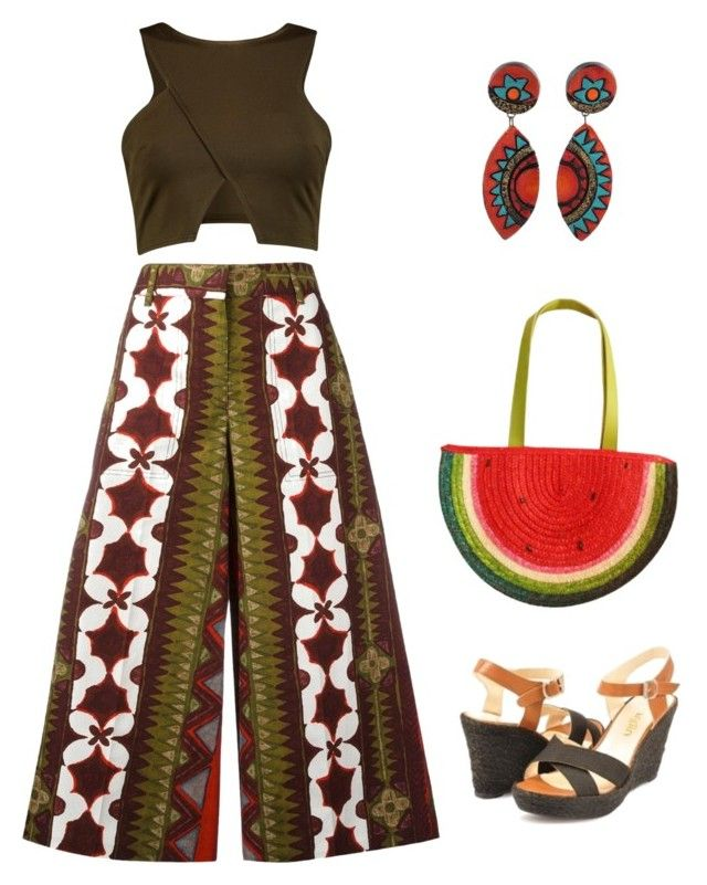 colourful autumn day outfit by justyna-kowalcze on Polyvore featuring moda, Valentino and NOVICA