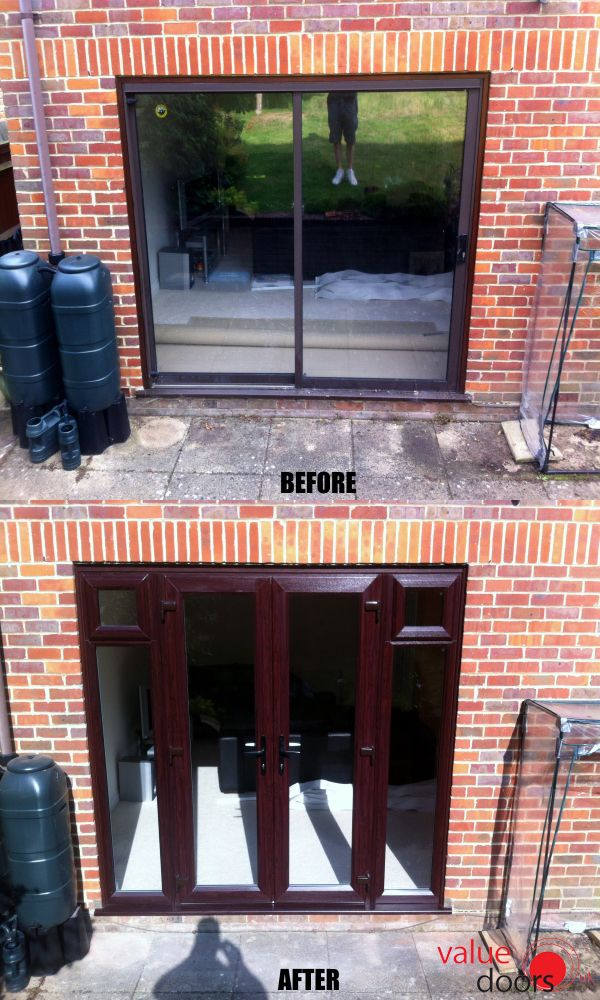 This customer swapped their uPVC Patio Doors for uPVC French Doors!
