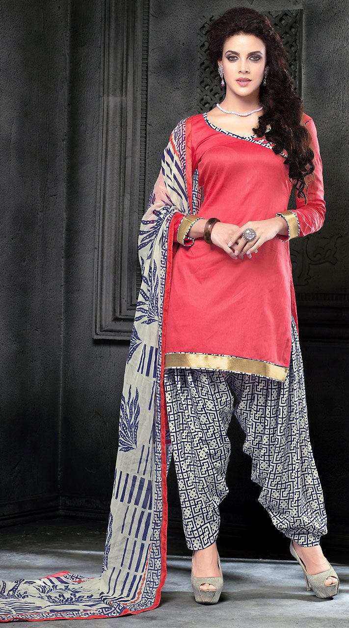 b5692bcf7f Beautiful Pink Cotton Patiala Salwar Kameez With Printed Dupatta | Patiala  Suits in 2019 | Patiala salwar, Patiala salwar suits, Patiala suit