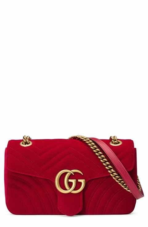 14b8dffdeb9b9c Gucci Medium GG Marmont 2.0 Matelassé Velvet Shoulder Bag ...