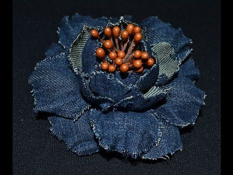Розы из джинсовой ткани Своими руками. Мастер-класс / Denim Rolled Roses Tutorial /✿ NataliDoma - YouTube